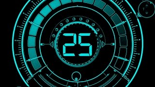 Countdown Timer 25 sec ( v 469 ) Circle Timer with timer sound effects HD 4k