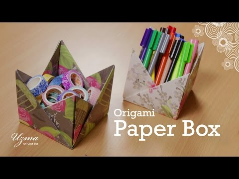 How to make Paper Box | Origami Craft Project | Easy and Pretty Storage Box