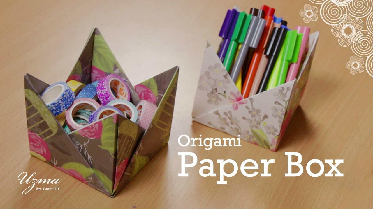 How To Make Paper Box Origami Craft Project Easy And Pretty Storage