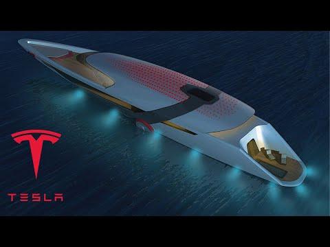 Inside Tesla's Self-Charging Model Y Yacht