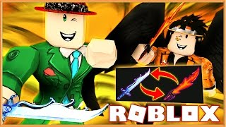 THE MOST INTENSE GODLY KNIFE BET EVER! | Murder Mystery 2 | Roblox