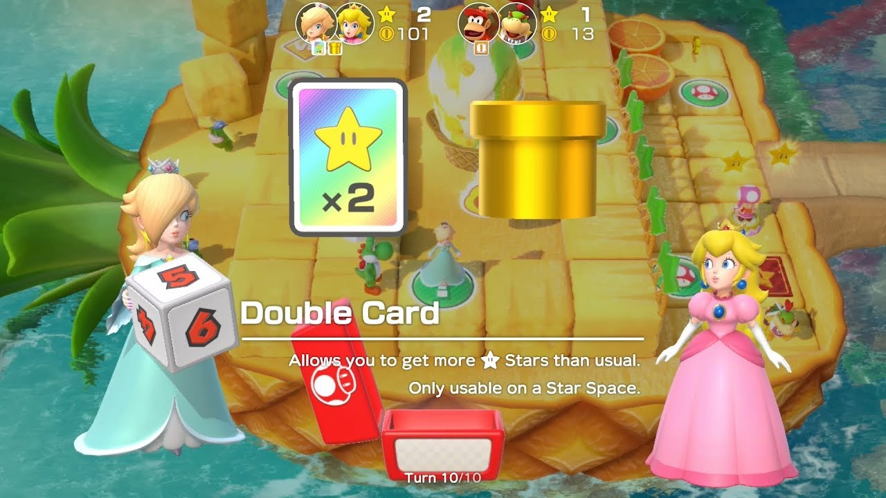 Super Mario Party Partner Party #53 Watermelon Walkabout Rosalina & Peach vs Diddy Kong & Bo