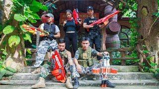 LTT Nerf War : SEAL X Warriors Nerf Guns Fight Criminal Group League Special Police