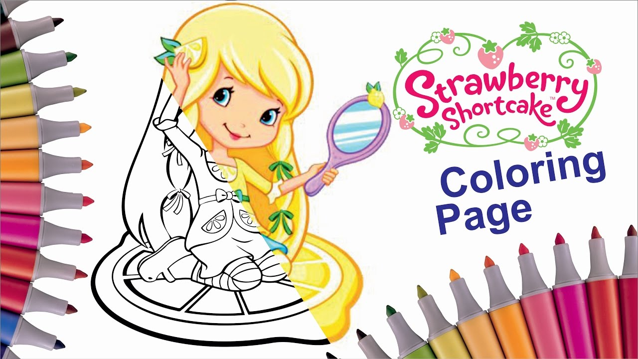 how to color lemon meringue strawberry shortcake coloring page
