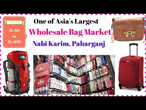 Nabi Karim Market I Asia's Biggest Wholesale Bag Market I Paharganj New Delhi I Simi Bella