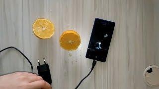 Limon ile Cep Telefonu Nasıl Şarj Edilir?