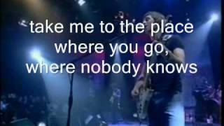 oasis-don't look back in anger live with lyrics