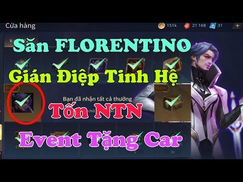 Liên Quân: Cận cảnh Vòng Quay 12 ô Florentino Giám Sát Tinh Hệ sẽ tốn NTN 👉 Event tặng car Garena