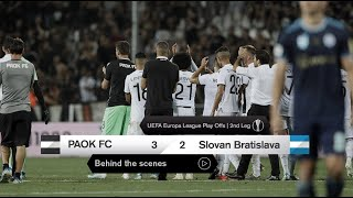 Η παρακάμερα του ΠΑΟΚ-SK Slovan Bratislava - PAOK TV