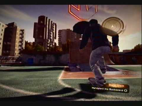 Skate 2 : How To (Dunk Slam) Hand Plant On The Back Board For Thrasher