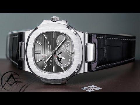 2018 Unboxing: Patek Philippe Nautilus 5712G Moon Phase White Gold Watch