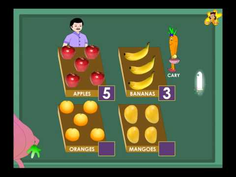 Kindergarten counting worksheets   counting fruits
