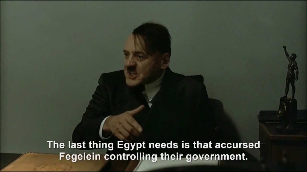 Hitler is informed President Morsi has been ousted
