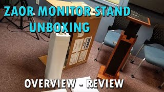 Zaor Monitor Stand Unboxing Review Pure Wave Audio