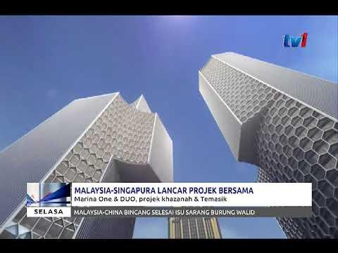 MALAYSIA-SINGAPURA LANCAR PROJEK BERSAMA – MARINA ONE & DUO, PROJEK KHAZANAH & TEMASIK [16 JAN 2018]