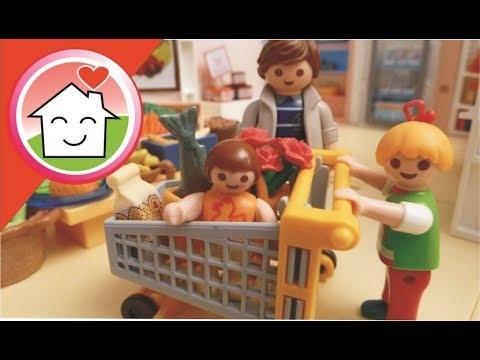 playmobil film deutsch familie hauser geht einkaufen youtube. Black Bedroom Furniture Sets. Home Design Ideas