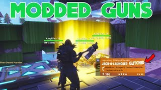 Modded 160 Guns SCAMMER SCAMMED HIMSELF (Scammer Gets Scammed) Fortnite Save The World