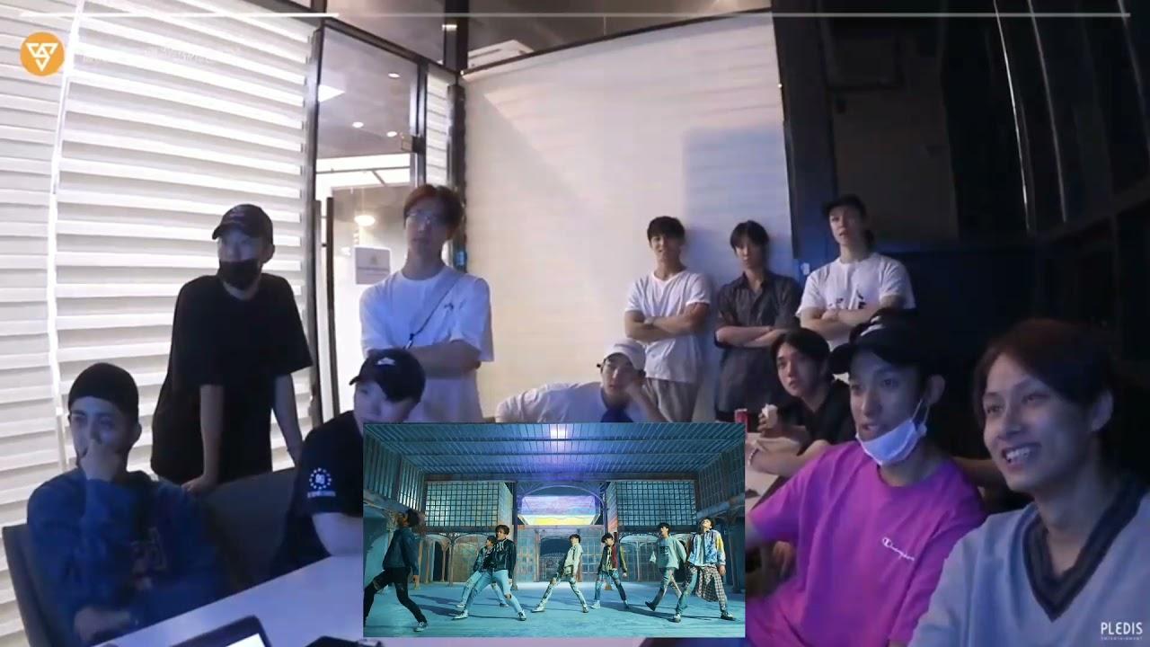 Download SEVENTEEN reaction to BTS - 'FAKE LOVE' MV