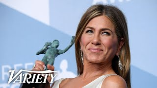 Jennifer Aniston Wins SAG Award for 'The Morning Show' - Full Backstage Interview