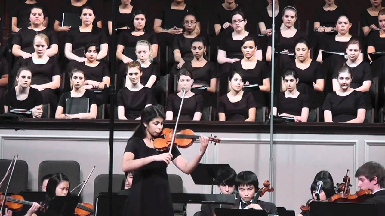 Shruthi Vivaldi Winter Solo w Shepton High School Orchestra