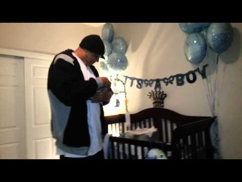Wife surprises Husband w/ a Newborn BABY in a box!