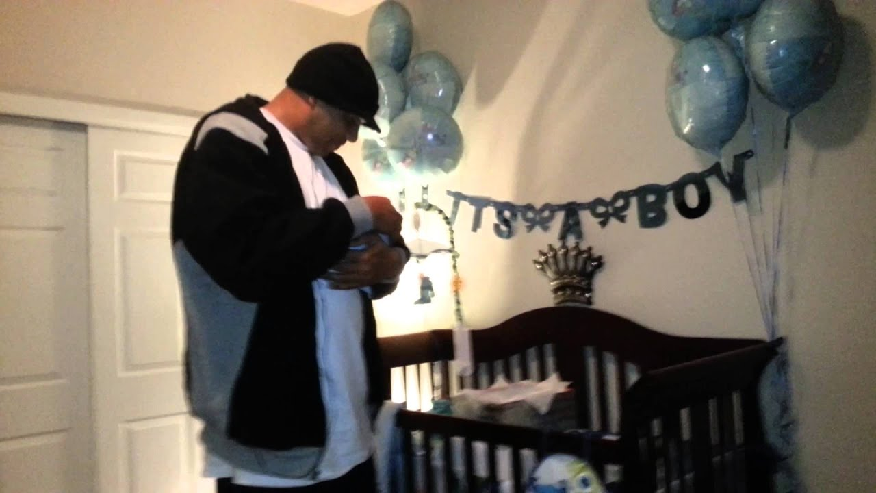Wife Surprises Husband W A Newborn Baby In A Box Youtube