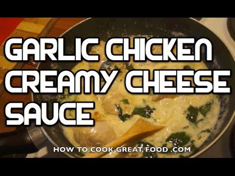 Garlic Chicken In A Cream & Cheese Sauce Recipe