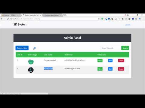 Student Registration System In PHP With Admin Panel
