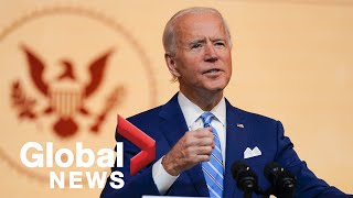 Joe Biden delivers Thanksgiving address, discourages large gatherings amid COVID-19 pandemic