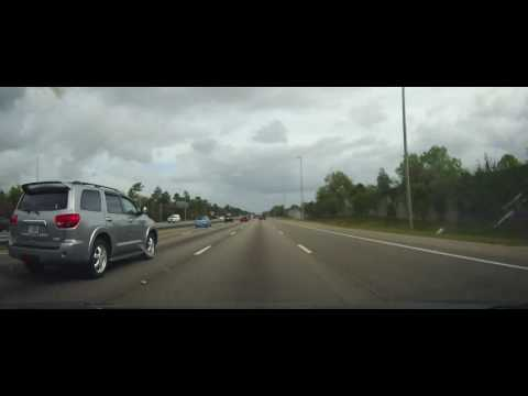 Driving on Interstate 4 from Lake Mary to Daytona Beach, Florida