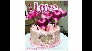 Topper de bolo de amor