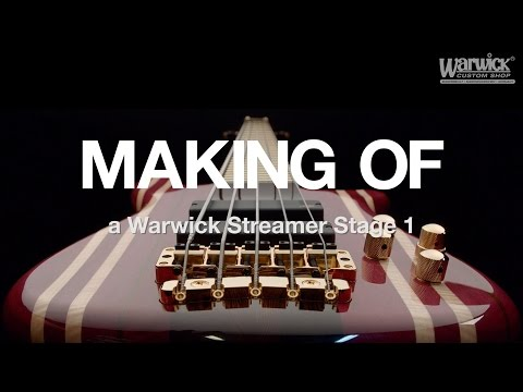 MAKING OF - Streamer Stage I 5-String - 14 piece Purple Heart body #16-3172