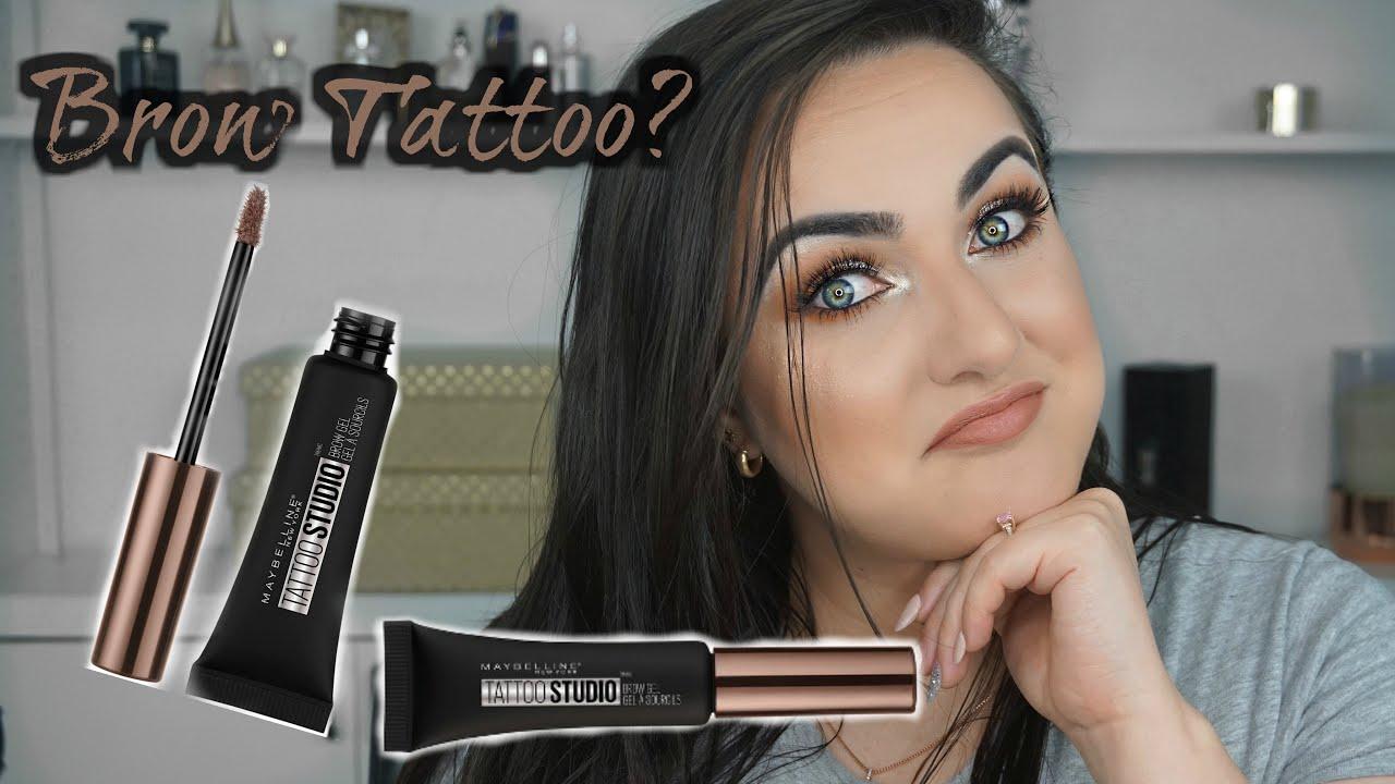 New Maybelline Tattoo Studio Waterproof Eyebrow Gel Review In