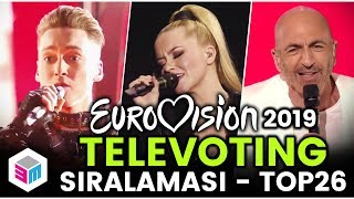 Eurovision 2019 - Televoting Sıralaması - Top 26