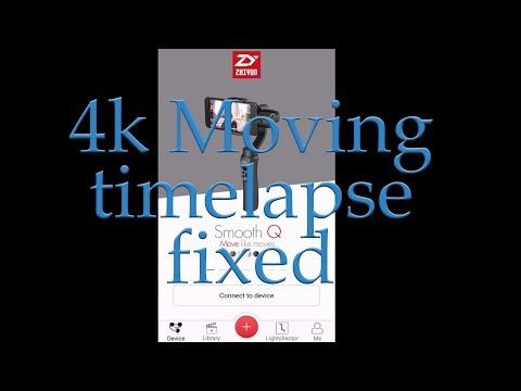 Zhiyun Smooth Q - 4k Moving Time Lapse Zy Play App
