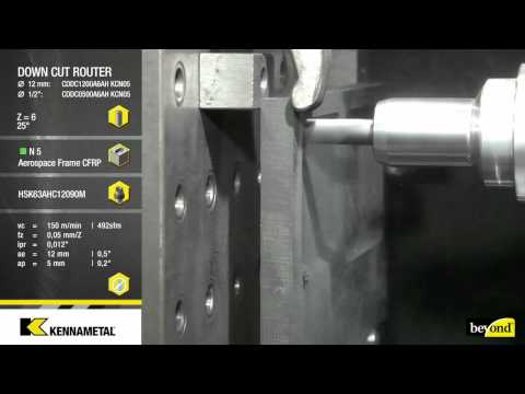 Solid Carbide Routers for CFRP