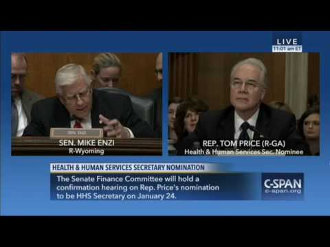 """Sen. Enzi: Tom Price Has The """"Background"""" And """"Wide Range Of Experience"""" To Be HHS Secretary"""