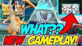 WHAT?! MEGA EVOLUTION NEWS! NEW GAMEPLAY FOOTAGE of Pokemon Let's Go Pikachu & Eevee