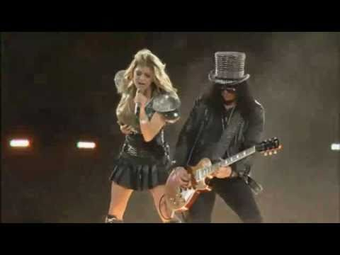Super Bowl XLV Halftime Show 2011 [HD] (Part 3/7) - Slash & Fergie - Sweet Child Of Mine