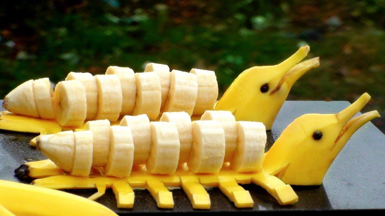 How To Make Fruits Art Banana Art Design Banana Fruits Banana Youtube