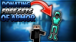 Donating Free Sets of Armor! - Hypixel UHC!