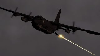 ArmA 3 - ANGEL OF DEATH in Action - AC-130 Gunship - Thermal Vision - Gameplay