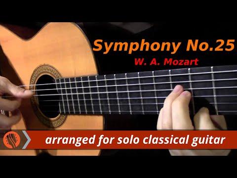 Symphony No.25, 1st mvt, W. A. Mozart (classical guitar arrangement by Emre Sabuncuoğlu)
