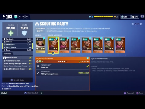 {Fortnite} save the world {Grinding missions} will be crafting later let's gooooo