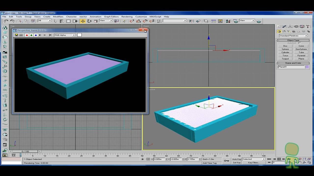 Piscina con 3D Studio Max  YouTube