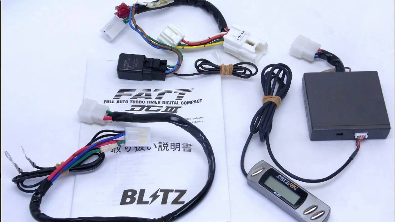 Blitz Fatt Dc Turbo Timer Manual Free Download Dual Wiring Diagram Full Auto Ty07 Harness Daihatsu Move