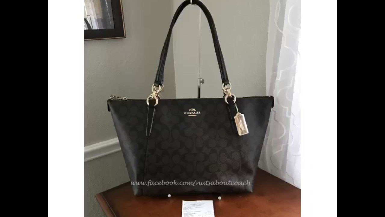 Coach Ava Tote F58318 PVC BROWN BLACK - YouTube f3cf2e8885652