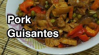 ★★ Pinoy Pork Guisantes Recipe - Filipino Tagalog