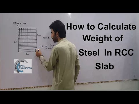 How to Calculate Weight of Steel in RRC Slab