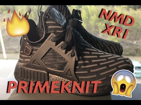 72848561dfef9 Adidas NMD XR1 Primeknit Core Black Core Red Review!!!!  BoostGang ...